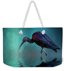 Glossy Ibis Looking For Breakfast Weekender Tote Bag by Cyndy Doty