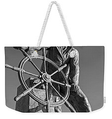 Gloucester Fisherman's Memorial Statue Black And White Weekender Tote Bag