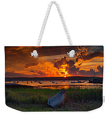 Gloucester Harbor Sunset Weekender Tote Bag