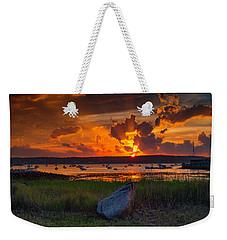Gloucester Harbor Sunset Weekender Tote Bag