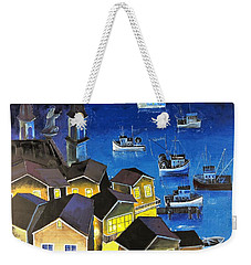 Glouchester Harbor Weekender Tote Bag by Mikhail Zarovny