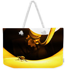 Weekender Tote Bag featuring the photograph Glow Fly by Robert Knight