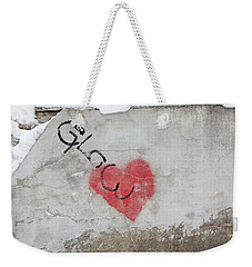 Weekender Tote Bag featuring the photograph Glow Heart by Art Block Collections