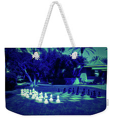 Weekender Tote Bag featuring the photograph Glow In The Dark Chess At The Biltmore by Aimee L Maher Photography and Art Visit ALMGallerydotcom