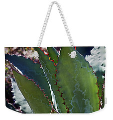 Weekender Tote Bag featuring the photograph Glowing Agave by Phyllis Denton