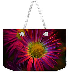Glowing Eye Of Flower Weekender Tote Bag by Lilia D