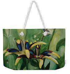Glowing Flora Weekender Tote Bag