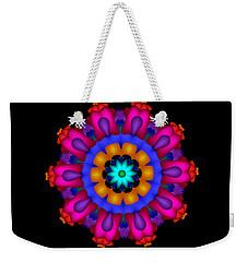 Glowing Fractal Flower Weekender Tote Bag