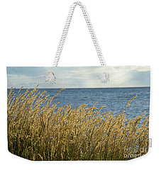 Glowing Grass By The Coast Weekender Tote Bag