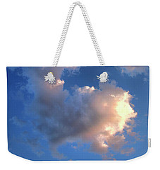 Weekender Tote Bag featuring the photograph Glowing Heart Cloud by Michael Rock