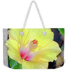 Glowing Hibiscus Flower Weekender Tote Bag