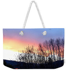 Weekender Tote Bag featuring the photograph Glowing Kalamalka Lake by Will Borden