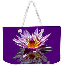 Glowing Lilly Flower Weekender Tote Bag by Shane Bechler