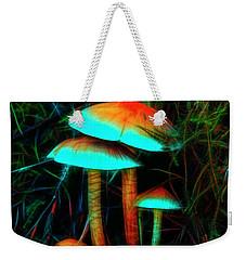 Glowing Mushrooms Weekender Tote Bag