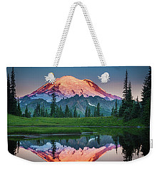 Glowing Peak - August Weekender Tote Bag by Inge Johnsson