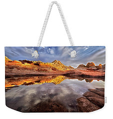 Glowing Rock Formations Weekender Tote Bag