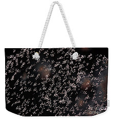 Weekender Tote Bag featuring the photograph Glowing Shapes by Michal Boubin