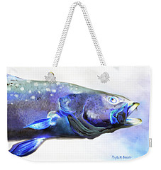 Weekender Tote Bag featuring the painting Glowing Trout by Phyllis Beiser