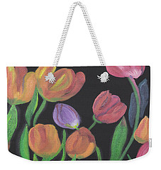 Glowing Tulips Weekender Tote Bag by Meryl Goudey