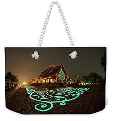 Glowing Wat Sirintorn Wararam Temple, Ubon Weekender Tote Bag