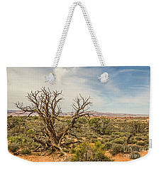 Gnarled Juniper Tree In Arches Weekender Tote Bag by Sue Smith
