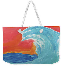 Weekender Tote Bag featuring the painting Gnarly Wave  by Don Koester