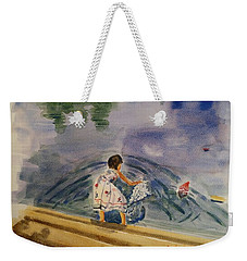 Go Baby Go Watercolor Painting Weekender Tote Bag