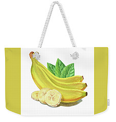 Weekender Tote Bag featuring the painting Go Bananas Still Life by Irina Sztukowski