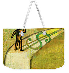 Weekender Tote Bag featuring the painting Goal by Leon Zernitsky