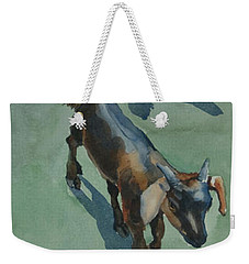 Weekender Tote Bag featuring the painting Goat by Helal Uddin