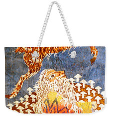 Goat Leaping Over Wood Elf Weekender Tote Bag