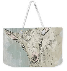 Goat Portrait-farm Animals Weekender Tote Bag
