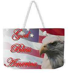God Bless America Weekender Tote Bag