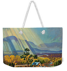 God Rays On A Blue Roof Weekender Tote Bag