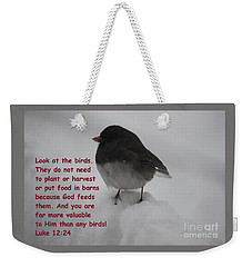 God Takes Care Of Us Weekender Tote Bag