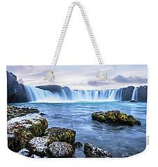 Godafoss Waterfall In Iceland Weekender Tote Bag