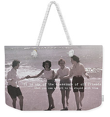 Goddess Gathering Quote Weekender Tote Bag