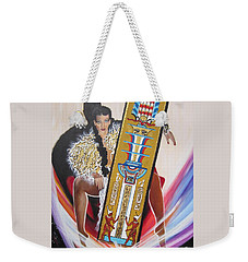 Goddess Isis Sits Holding Tet Of Osiris Weekender Tote Bag