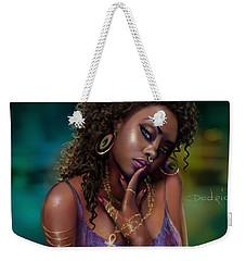 Weekender Tote Bag featuring the digital art Goddess Kali by Dedric Artlove W