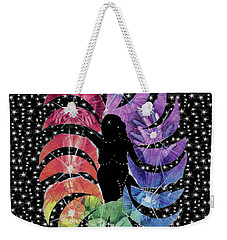 Weekender Tote Bag featuring the mixed media Goddess by Kym Nicolas