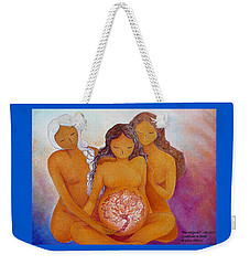 Goddesses In Birth  Weekender Tote Bag