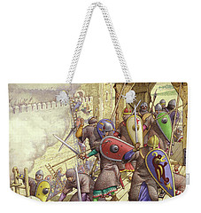 Godfrey De Bouillon's Forces Breach The Walls Of Jerusalem Weekender Tote Bag