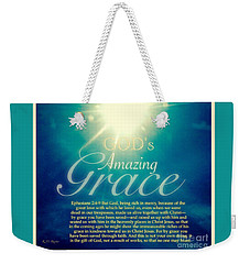 God's Amazing Gift Of Grace Weekender Tote Bag
