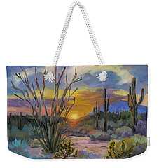 God's Day - Sonoran Desert Weekender Tote Bag by Diane McClary