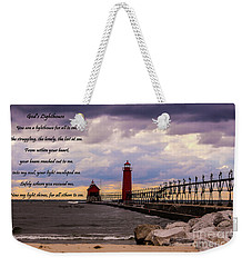 God's Lighthouse Weekender Tote Bag