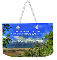God's Majestic Creation Weekender Tote Bag