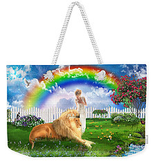 Weekender Tote Bag featuring the digital art God's Perfect Promise  by Dolores Develde