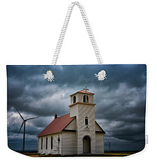 Weekender Tote Bag featuring the photograph God's Storm by Darren White