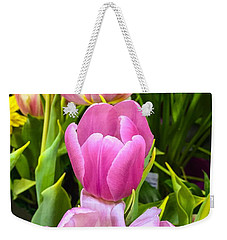 God's Tulips Weekender Tote Bag by Carlos Avila