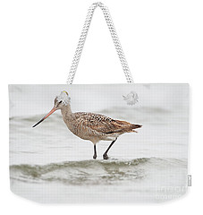 Godwit Playing In The Ocean Weekender Tote Bag